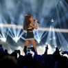 Ariana Grande performs at The 64th NBA All-Star Game 2015