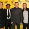 """Actress Anna Gunn and actors Giancarlo Esposito, Bryan Cranston and Aaron Paul attend the AMC's Premiere of """"Breaking Bad"""" Season Four"""