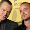 """Actors Bryan Cranston and Aaron Paul attend the premiere of AMC's """"Breaking Bad"""" at Mann's 6 Theatre"""