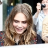 """Cara Delevigne arrives in a classic Cadillac at SAT.1 TV studios to promote 'Paper Towns' on German TV show """"Frühstücksfernsehen"""". Featuring: Cara Delevingne Where: Berlin, Germany When: 16 Jun 2015 Credit: WENN.com"""