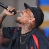 Chris Brown performs on the 'Today' show as part of their NBC Toyota Concert Series