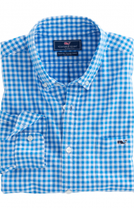 Fish Bay Gingham Slim Tucker Shirt by Vineyard Vines