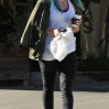 Hilary Duff still sporting her turquoise dyed hair grabs a coffee after a visit to Belle Visage salon Skin Beauty ScienceFeaturing: Hilary DuffWhere: Los Angeles, California, United StatesWhen: 26 Mar 2015Credit: WENN.com