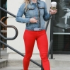 Hilary Duff grabs a coffee from Starbucks in Studio City. Hilary's first name is spotted written on the front of her cup as she exits the store. Featuring: Hilary Duff Where: Los Angeles, California, United States When: 22 Mar 2014 Credit: WENN.com