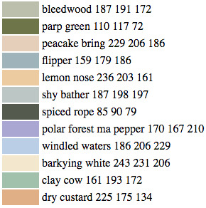 New Paint Colors Invented by Computer Algorithm