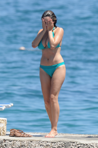 Kelly Brook is seen at the Ischia Global Fest 2011