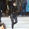 erly Hills as she shows her midriff in a black cropped sweater and black leather jacket with a pair of leather trousersFeaturing: Kylie JennerWhere: Los Angeles, United StatesWhen: 16 Dec 2015Credit: WENN.com