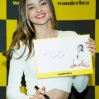 Miranda Kerr attends an autograph session for Wonderbra on October 15, 2014 in Seoul, South Korea