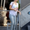 Pregnant Olivia Wilde displays her small growing baby bump