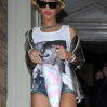 Rihanna leaving her hotel to head to Germany