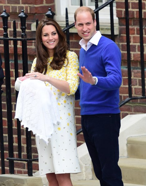 Catherine, Duchess of Cambridge and Prince William, Duke of Cambridge, leave St Mary's hospital with their new baby daughter Featuring: Catherine, Duchess of Cambridge, Prince William, Duke of Cambridge, Princess of Cambridge Where: London, United Kingdom When: 02 May 2015 Credit: WENN.com