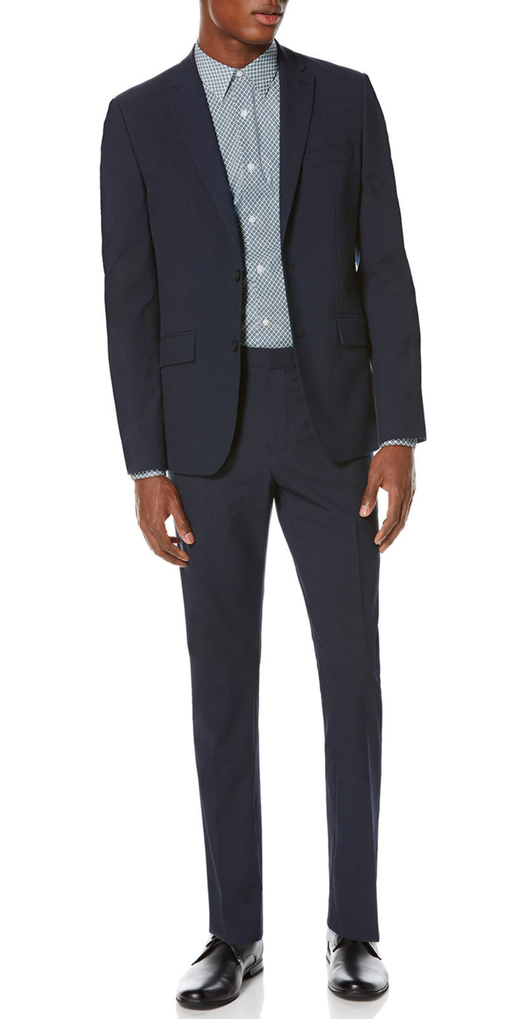 Slim Fit Machine Washable Suit by Perry Ellis