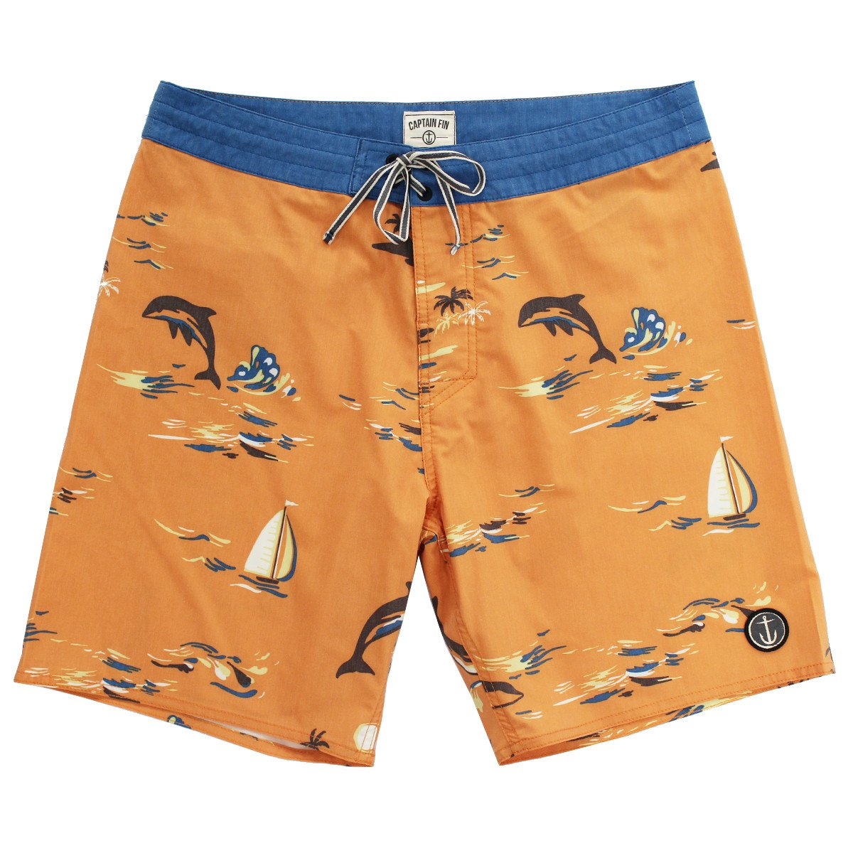 Leaping Dolphins Boardshort by Captain Fin