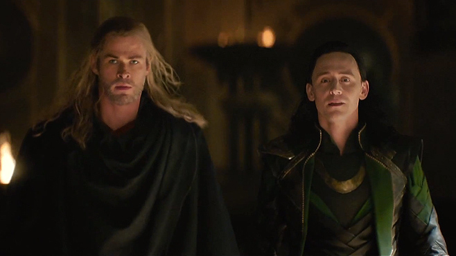 Thor The Dark World Chris Hemsworth Tom Hiddleston