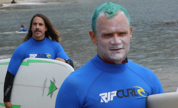 Anthony Flea RHCP Surfing Firecloud 2