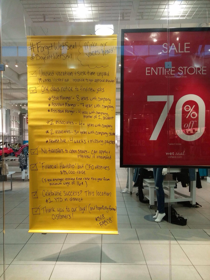 Wet Seal Employees Expose Their Company
