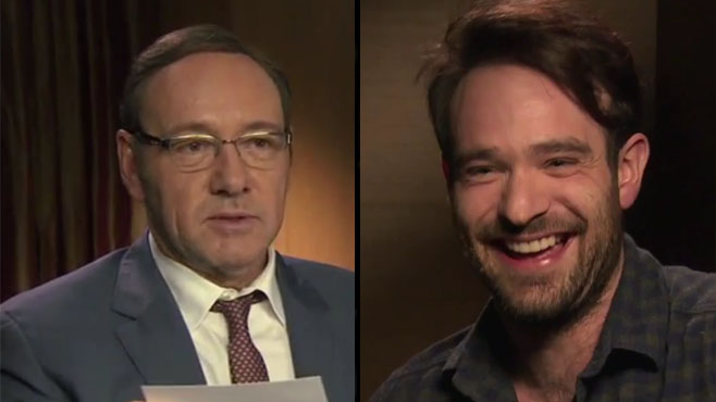 Kevin Spacey and Charlie Cox