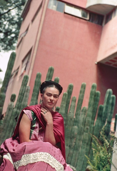 Frida in Front of the Cactus Fence, San Ángel, 1938