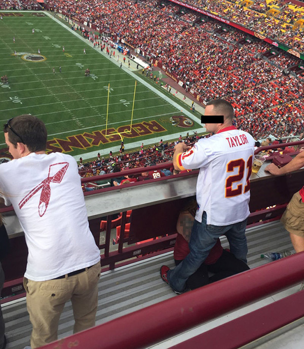Redskins Fan Receives Oral Sex At The Game - Mandatory-5105