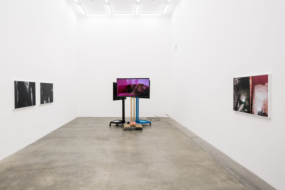"Installation shot of Jen DeNike's ""If She Hollers"" at Anat Ebgi Gallery."