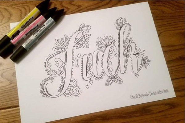 Swear Words Coloring Book - Mandatory