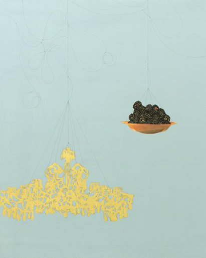 "Kaoru Mansour, ""Blackberry and Chandelier #111"", 2015."