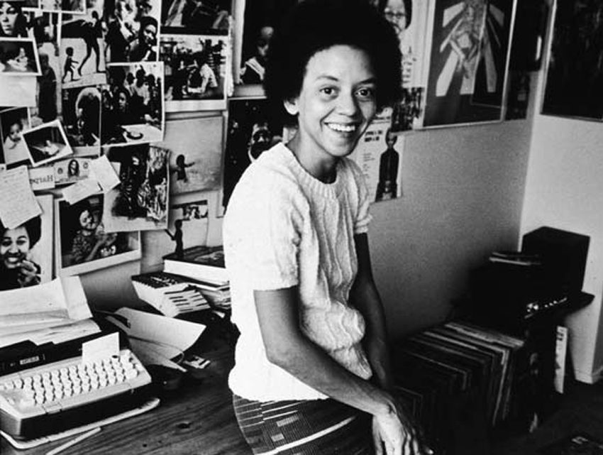 Nikki Giovanni in her office, 1973. Photo courtesy Getty Images.