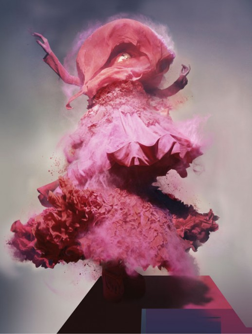 Nick Knight, Lily, 2008. Hand-coated pigment print, 147,93 x 111,76 cm ( 58 1/4 x 44 in. ), Edition of 5, plus 2 AP.