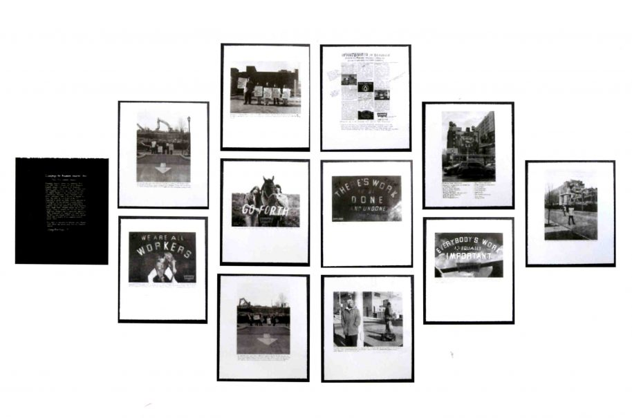 LaToya Ruby Frazier Campaign for Braddock Hospital (Save our Community Hospital), 2011 portfolio of 12 prints, photolithographs and silkscreen, wooden frames. 20 x 17 inches each (framed) Edition 6 of 8