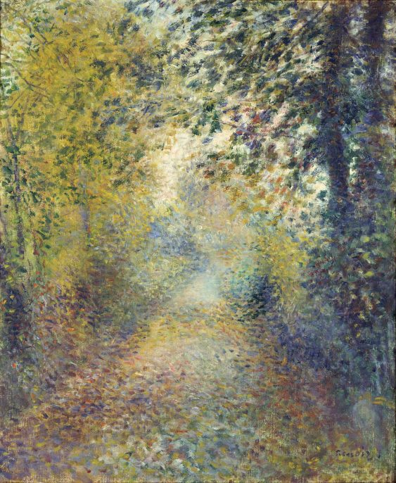 Pierre-Auguste Renoir (1841–1919), In the Woods, circa 1880, oil on canvas, 21 15/16 x 18 ¼ in. (55.8 x 46.3 cm), The National Museum of Western Art, Tokyo; Matsukata Collection, P.1959-183