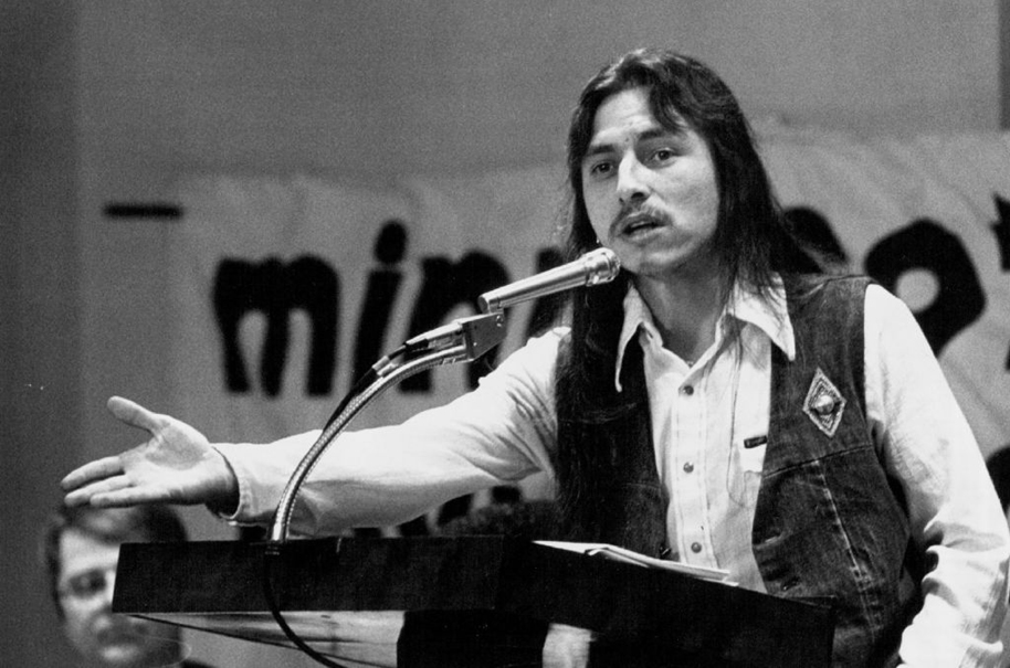 John Trudell. Courtesy JOHN CROFT/RPA/MINNEAPOLIS STAR TRIBUNE.