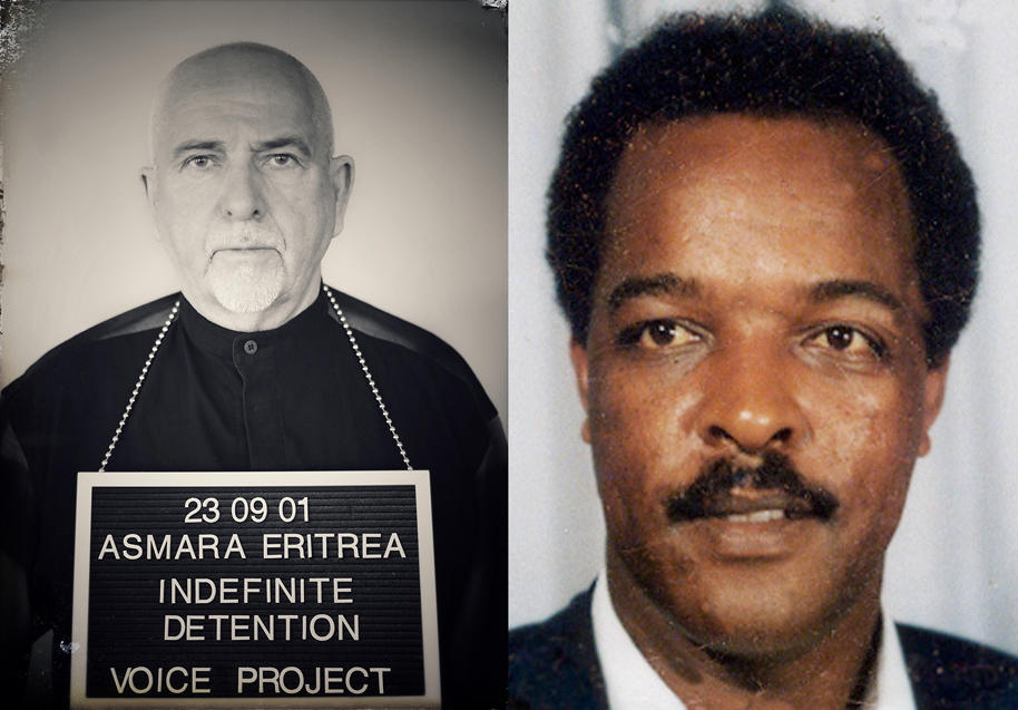 Peter Gabriel with author and journalist Dawit Isaak.