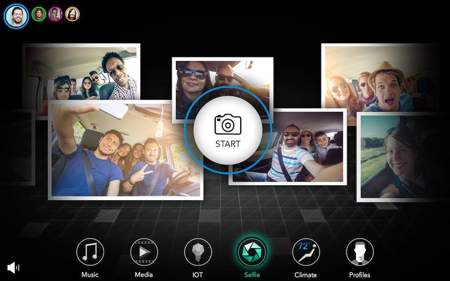 Chrysler Portal Concept user experience. Once at the destination, interior and exterior cameras can capture the moment with a selfie, which is then automatically downloaded to everyone's personal device and can be shared via social media