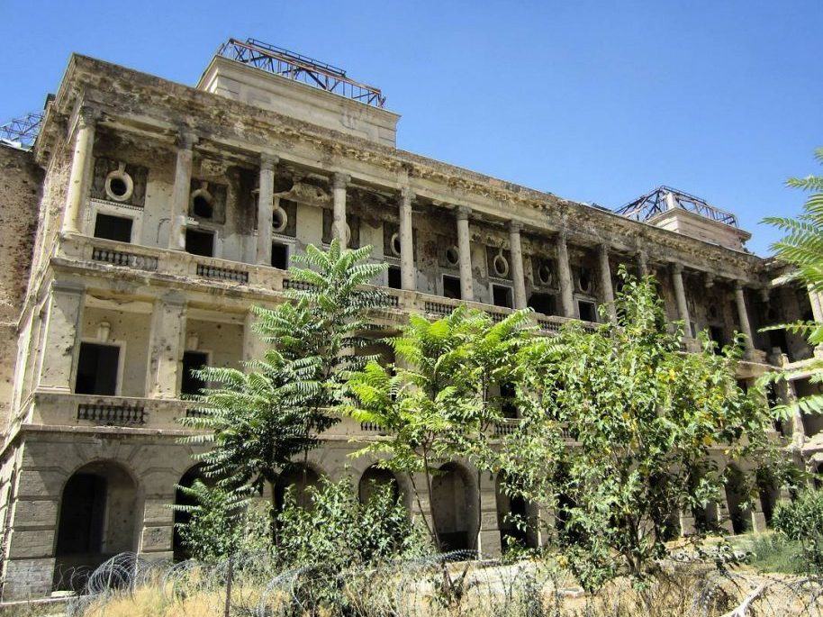 Photo: Darul Aman Palace in Kabul, Afghanistan.
