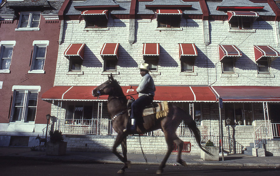 """Ron Tarver, """"A Ride by North Philly Rows,"""" 1993, archival ink jet print, courtesy the artist"""