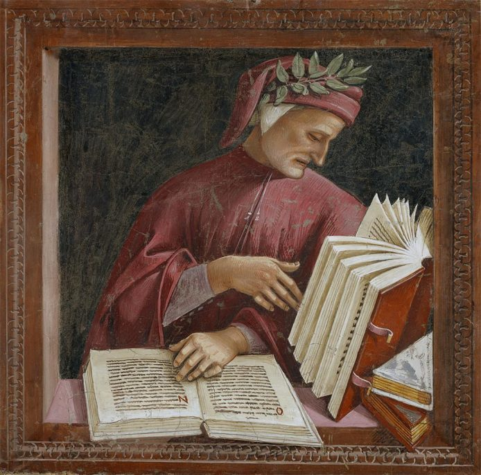 Luca Signorelli, Dante (detail), fresco, San Brizio, Duomo, Orvieto, courtesy Wikimedia Commons, illustration unrelated to the theft.