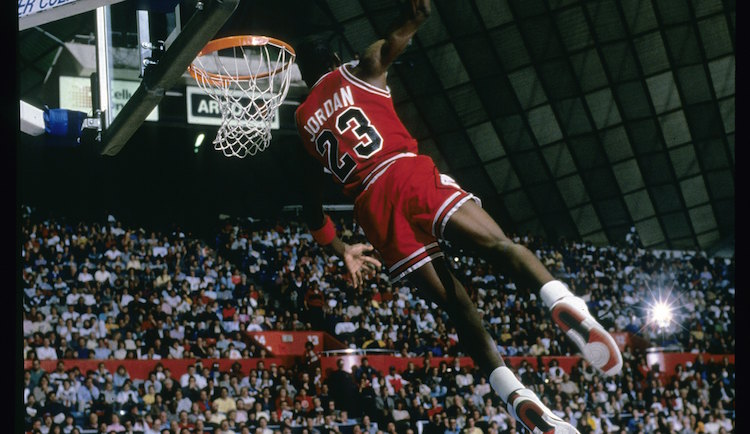 on sale effb5 6b0a5 On This Date  Michael  Air  Jordan Won His First Slam Dunk Title