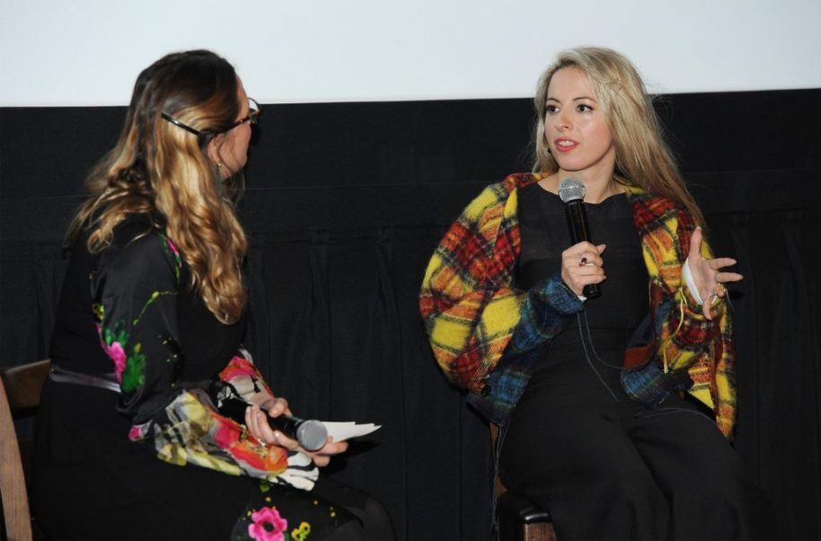 Director Crystal Moselle (r)
