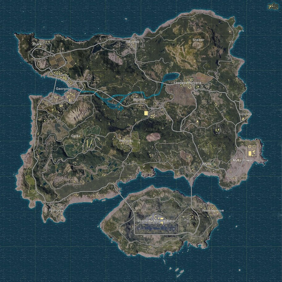PlayerUnknown's-Battlegrounds-Map