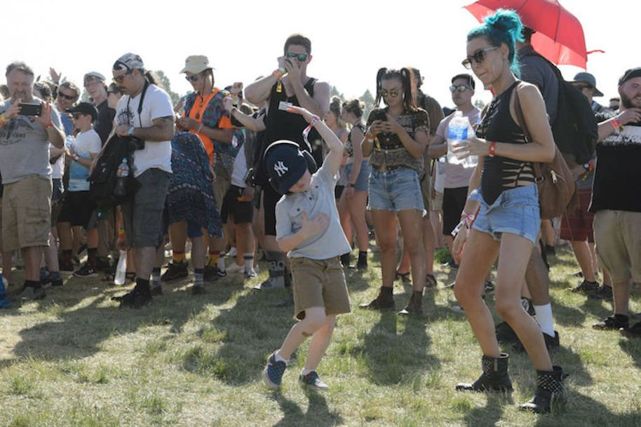 GEORGE, WA - MAY 27: Concertgoers dance to Aesop Rock during the Sasquatch Festival at Gorge Amphitheatre on May 27, 2017 in George, Washington. (Photo by Jim Bennett/Getty Images)