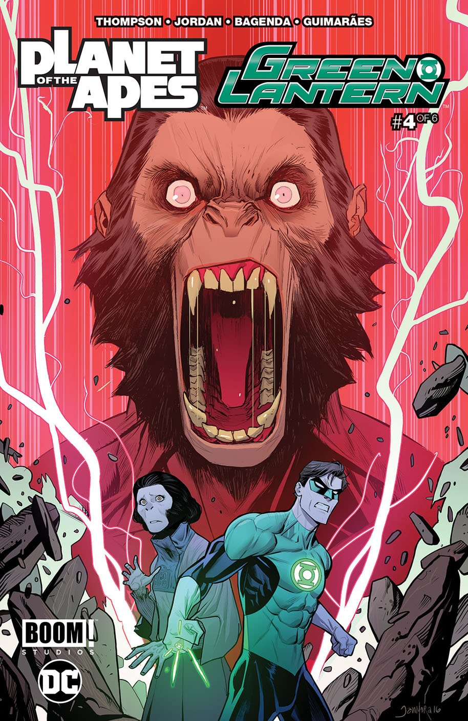Planet of the Apes Green Lantern 4 Main Cover