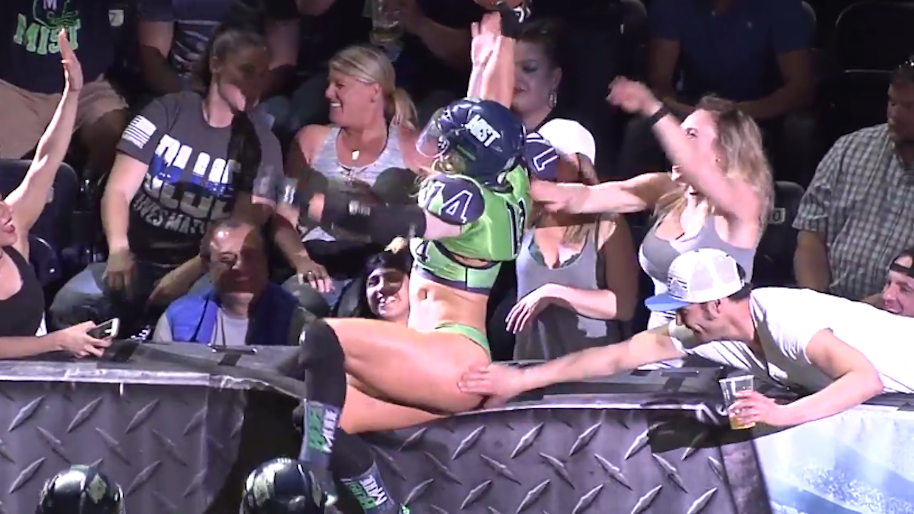 Lfl Player Motorboats Busty Woman