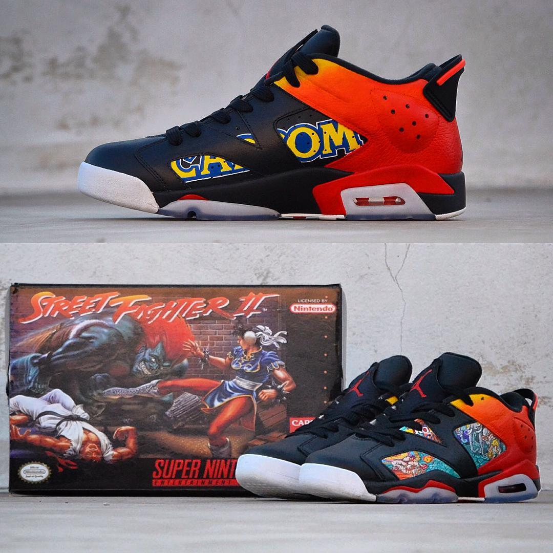 80616b41362f13 Check Out These Custom Air Jordans With A Nintendo Theme