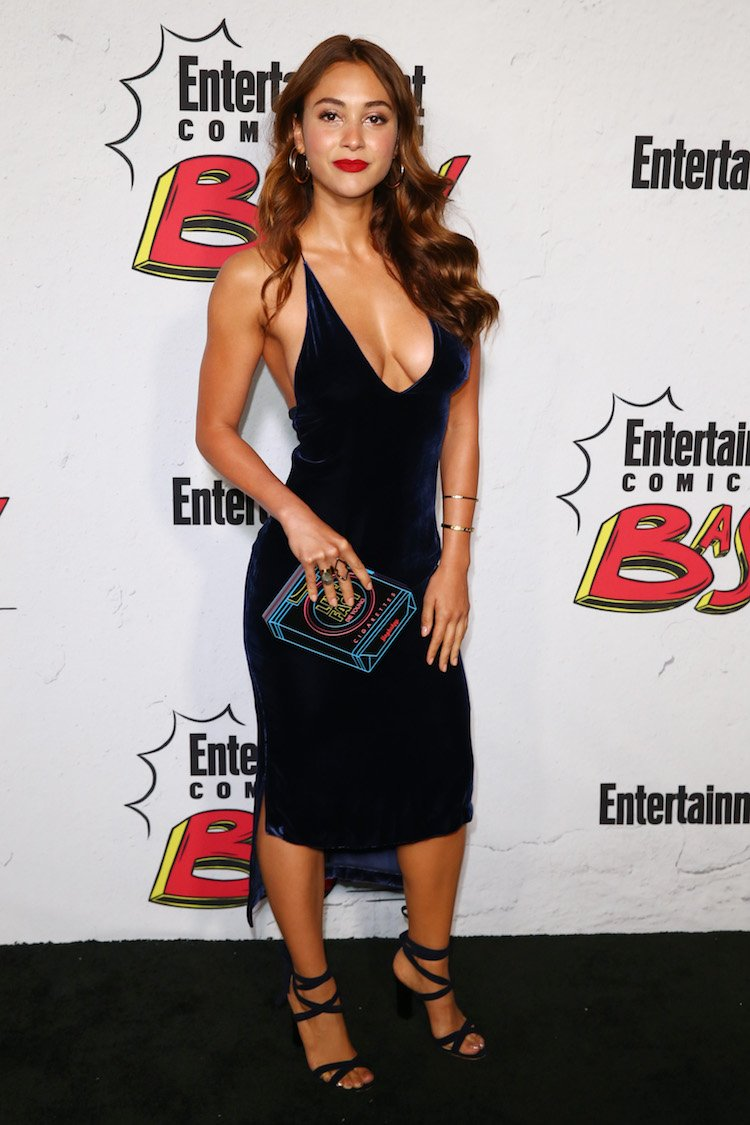 Lindsey Morgan Markets Her Show With Her Boobs