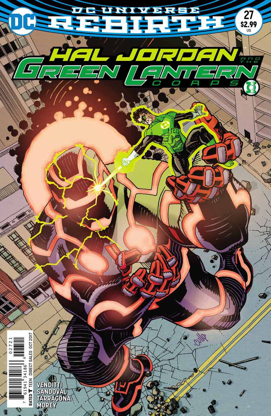Hal Jordan and the Green Lantern Corps 27 open order variant cover