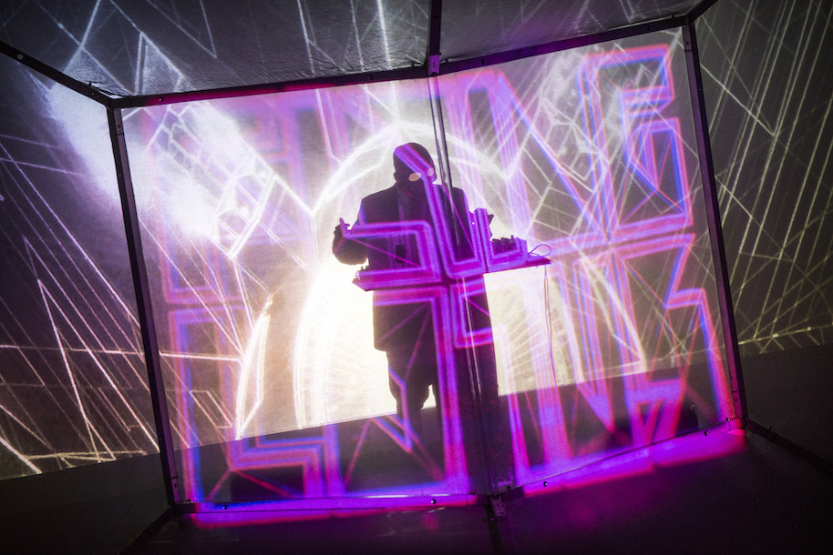 GLASGOW, SCOTLAND - APRIL 28: Flying Lotus performs at O2 ABC Glasgow on April 28, 2015 in Glasgow, United Kingdom (Photo by Ross Gilmore/Redferns via Getty Images)