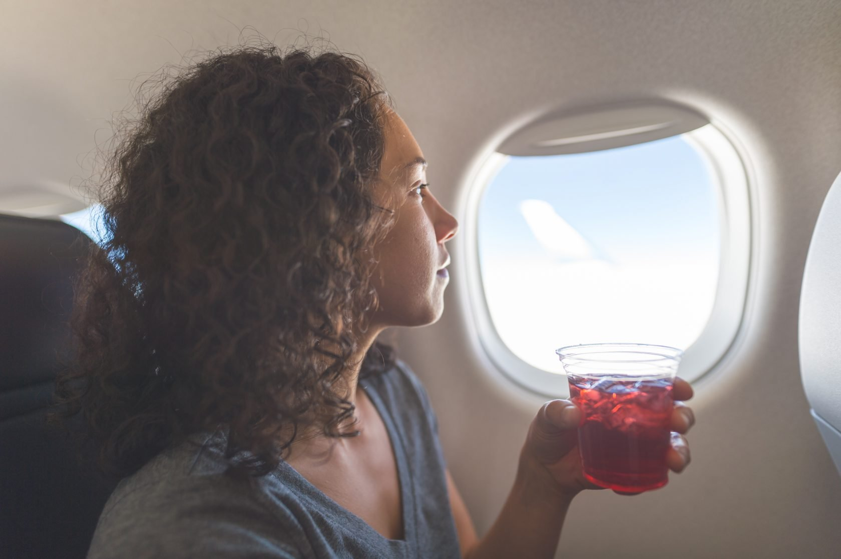 airplane drinking