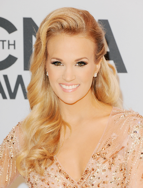 Singer Carrie Underwood attends the 47th annual CMA Awards at the Bridgestone Arena