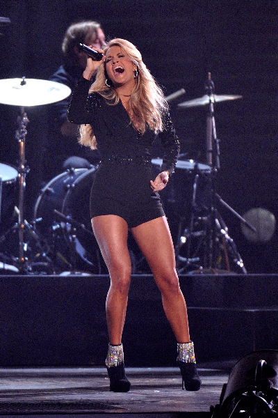Carrie Underwood performs at the 47th annual CMA Awards at the Bridgestone Arena