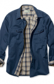 L.L. Bean, Flannel-Lined Hurricane Shirt